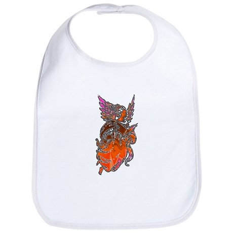 Pretty Orange Angel Bib
