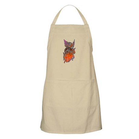 Pretty Orange Angel BBQ Apron