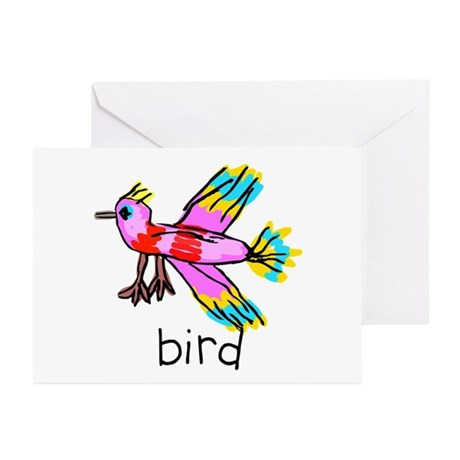 Kid Art Bird Greeting Cards (Pk of 10)