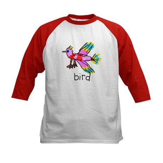 Kid Art Bird Kids Baseball Jersey