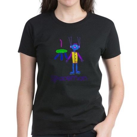 Kid Art Spaceman Women's Dark T-Shirt