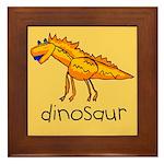 Kid Art Dinosaur Framed Tile