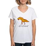 Kid Art Dinosaur Women's V-Neck T-Shirt