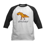 Kid Art Dinosaur Kids Baseball Jersey