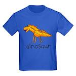 Kid Art Dinosaur Kids Dark T-Shirt