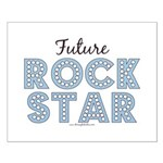 Blue Brown Future Rock Star Small Poster