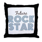 Blue Brown Future Rock Star Throw Pillow