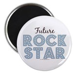 Blue Brown Future Rock Star Magnet