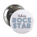 Blue Brown Future Rock Star Button