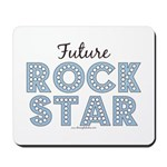 Blue Brown Future Rock Star Mousepad