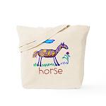Kid Art Horse Tote Bag