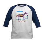 Kid Art Horse Kids Baseball Jersey