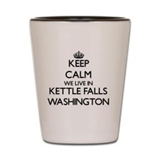 Keep calm we live in Kettle Falls Washi Shot Glass