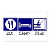 Eat, Sleep, Fishing Postcards (Package of 8)