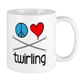 Peace Love Twirling Coffee Mug