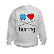 Peace Love Twirling Sweatshirt