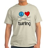 Peace Love Twirling T-Shirt