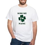 Kiss me Mens White T-shirts