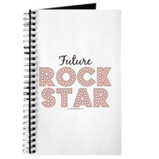 Pink Brown Future Rock Star Journal