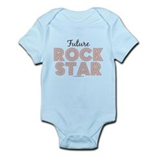Pink Brown Future Rock Star Infant Bodysuit