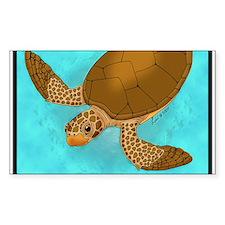 Loggerhead Sea Turtle Rectangle Decal