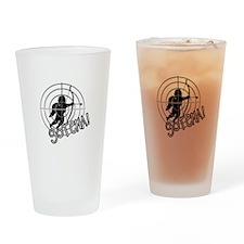 Anti Cupid Bullseye - Unvalentine Drinking Glass