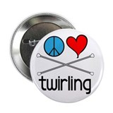 Peace Love Twirling 2.25&quot; Button (10 pack)