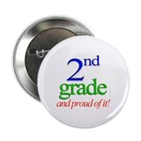 Second Grade 2nd Grader 2.25&quot; Button (100 pack)