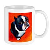 boston terrier 4 Small Mugs
