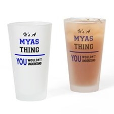 Unique Mya Drinking Glass