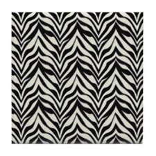 """Zebra Pattern"" Tile Coaster"