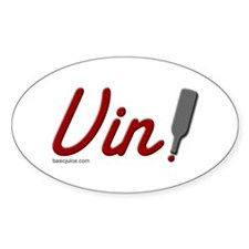 "Basic Juice ""Vin"" (wine) Oval Decal"