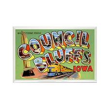Council Bluffs Iowa Rectangle Magnet