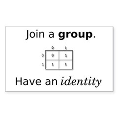 Group Identity Rectangle Sticker