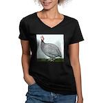 Lavendar Guinea Women's V-Neck Dark T-Shirt