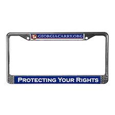 Georgia Carry License Plate Frame