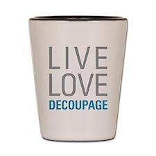 Decoupage Shot Glass