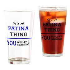 Cute Patina Drinking Glass