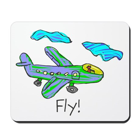 Kid Art Jet Plane Mousepad