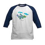 Kid Art Jet Plane Kids Baseball Jersey