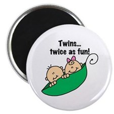 "Twins Twice as Fun 2.25"" Magnet (10 pack)"