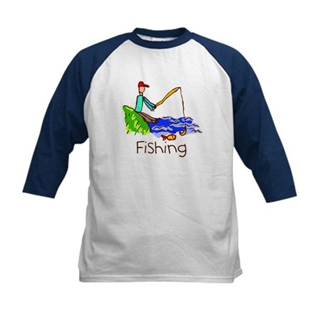 Kid Art Fishing Kids Baseball Jersey