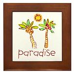 Kid Art Paradise Framed Tile