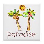 Kid Art Paradise Tile Coaster