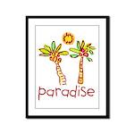 Kid Art Paradise Framed Panel Print