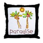 Kid Art Paradise Throw Pillow