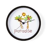 Kid Art Paradise Wall Clock