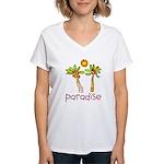 Kid Art Paradise Women's V-Neck T-Shirt