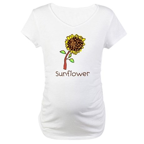 Kid Art Sunflower Maternity T-Shirt