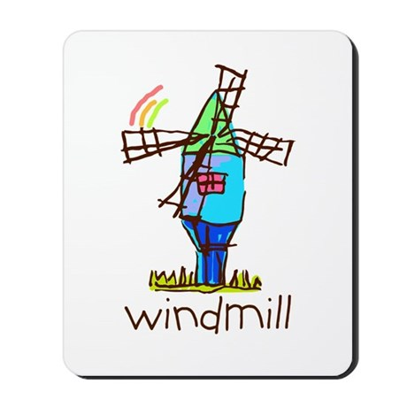 Kid Art Windmill Mousepad